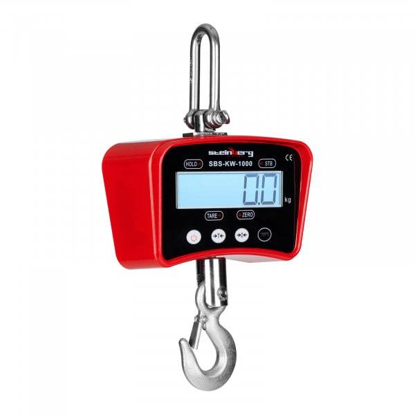 Kranwaage - 1.000 kg / 0,2 kg - rot