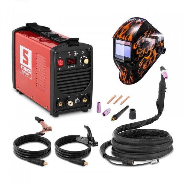 Schweißset WIG Schweißgerät - 250 A - 230 V - tragbar + Schweißhelm – Firestarter 500