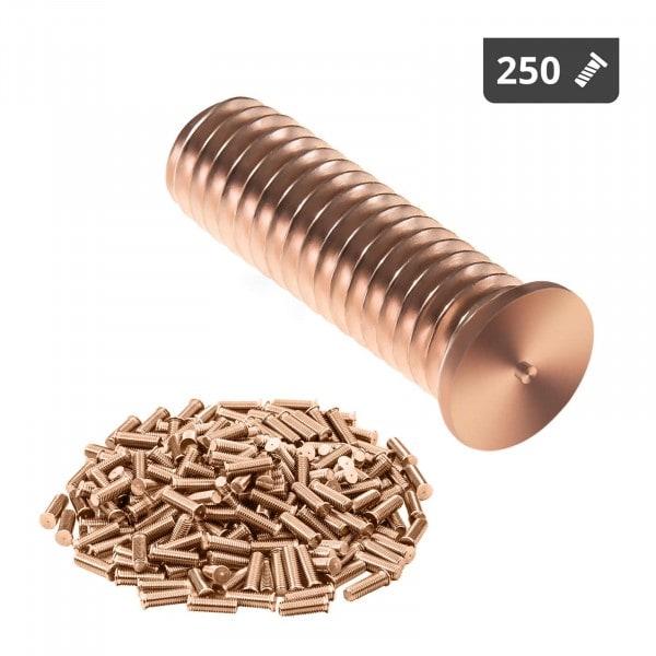 Schweißbolzen - M6 - 20 mm - Stahl - 250 Stück