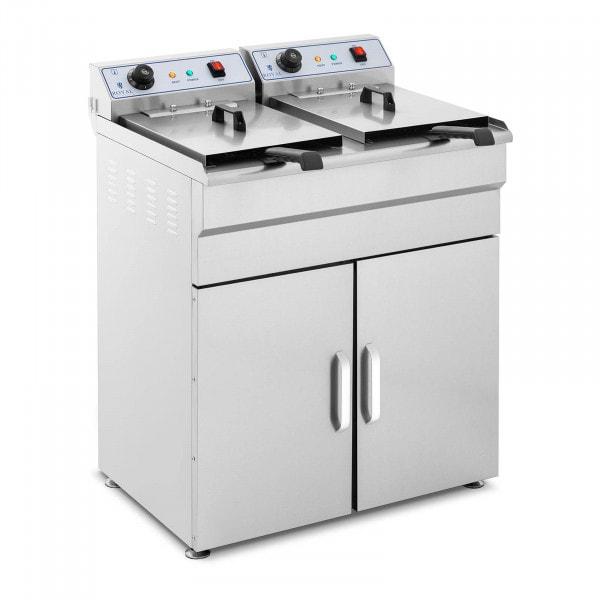 Elektro-Fritteuse - 2 x 16 Liter - 400 V - Unterschrank