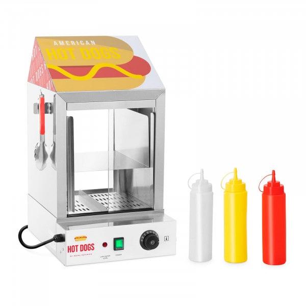 Hot Dog Steamer - 100 Würstchen - 25 Brötchen - 1.000 W