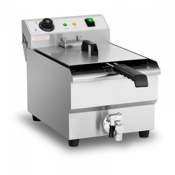 Elektro-Fritteuse - 13 Liter - 3.200 W - Ablasshahn - Kaltzone