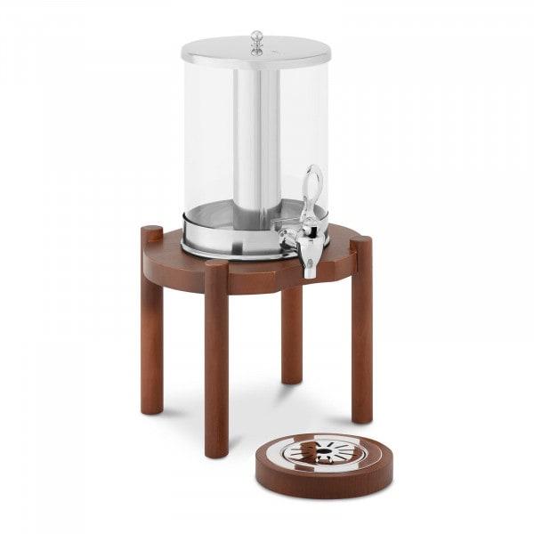 Saftspender - 7 L - Kühlsystem - dunkles Holzgestell