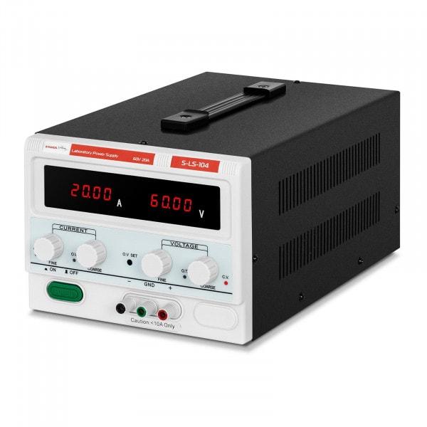 Labornetzgerät - 0 - 60 V - 0 - 20 A DC - 1.200 W - 4-stellige LED-Anzeige