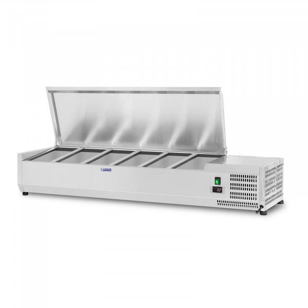 Kühlaufsatzvitrine - 140 x 39 cm - 6 GN 1/3 Behälter