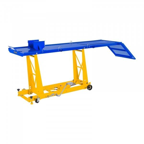 Motorradhebebühne mit Rampe - 450 kg - 220 x 68 cm