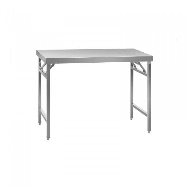 Edelstahl Arbeitstisch - 120 x 60 cm - Aufkantung