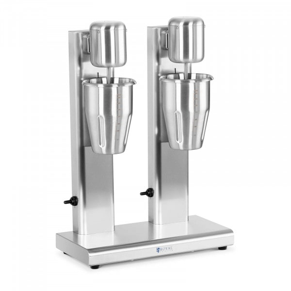 Milchshaker - doppelt - 2 x 1 L - 15.000 U/min - Edelstahl
