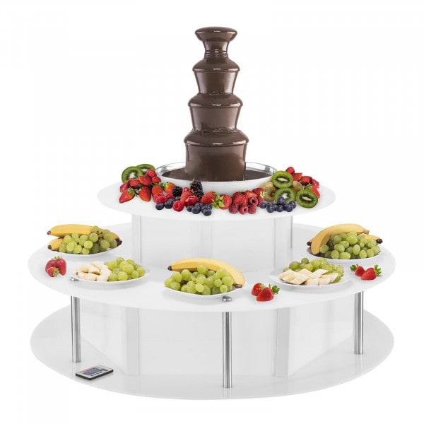 Schokoladenbrunnen Set - 4 Etagen - 6 kg plus Leuchttisch