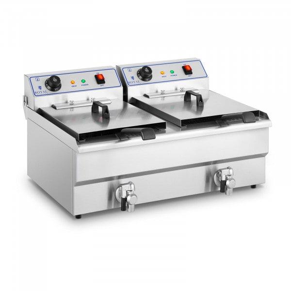 Elektro-Fritteuse - 2 x 16 Liter - 400 V