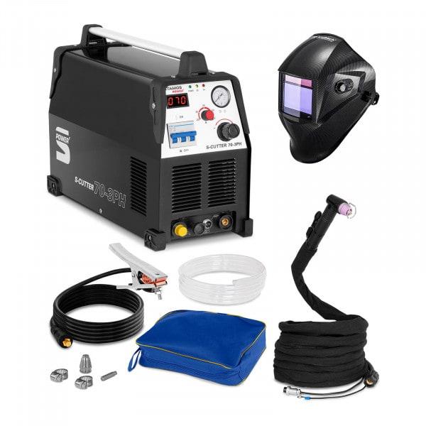 Schweißset Plasmaschneider - 70 A - 400 V - Pilotzündung + Schweißhelm – Carbonic
