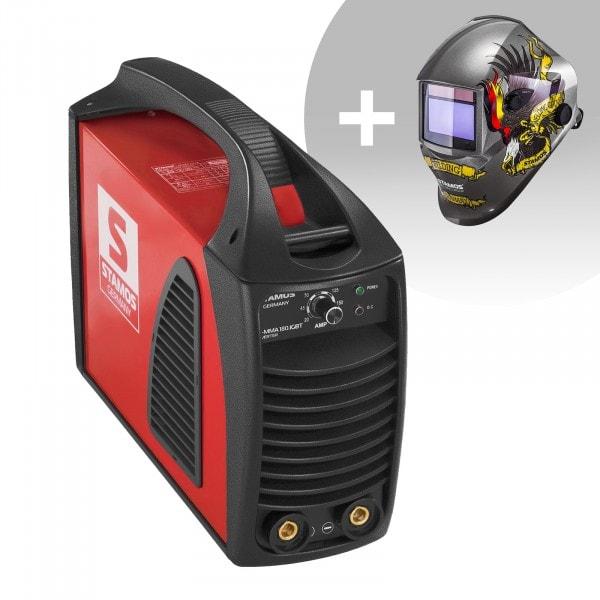 Schweißset Elektroden Schweißgerät – 180 A – Hot Start - IGBT + Schweißhelm – Eagle Eye