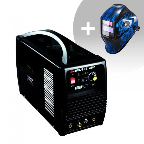 Schweißset Kombi Schweißgerät - WIG 160 A - Cut 40 A - E-Hand - PRO + Schweißhelm – Sub Zero