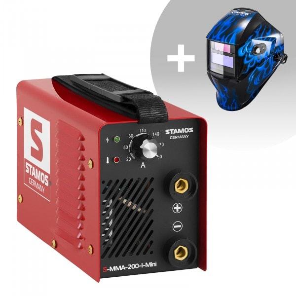 Schweißset Elektroden Schweißgerät - 200 A - 230 V - IGBT + Schweißhelm – Sub Zero