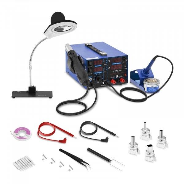 Set Lötstation - 800 W - 4 LED - mit Lampe