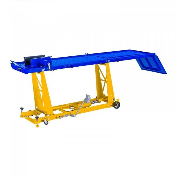 Motorradhebebühne mit Rampe - 450 kg - 190 x 53 cm