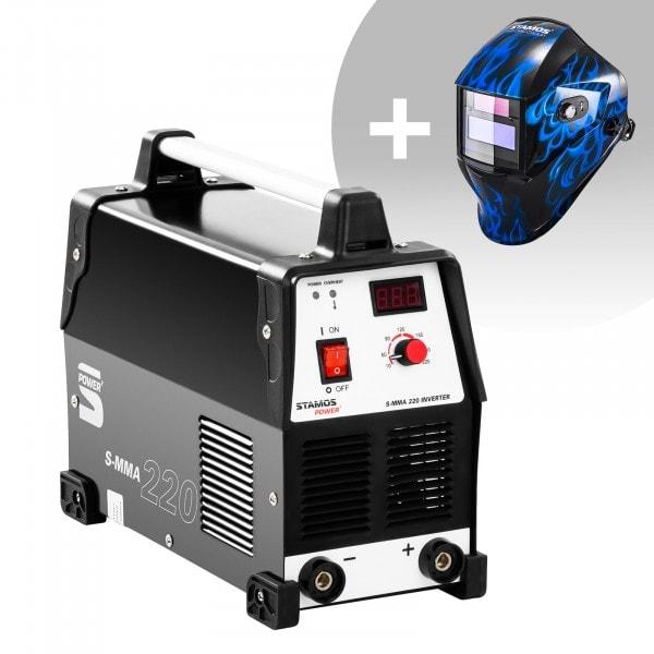 Schweißset Elektroden Schweißgerät - 220 A - 230 V + Schweißhelm – Sub Zero