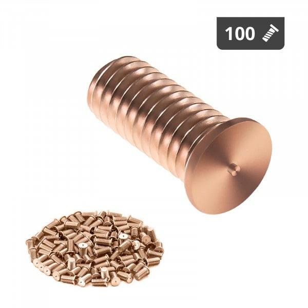 Schweißbolzen - M4 - 10 mm - Stahl - 100 Stück