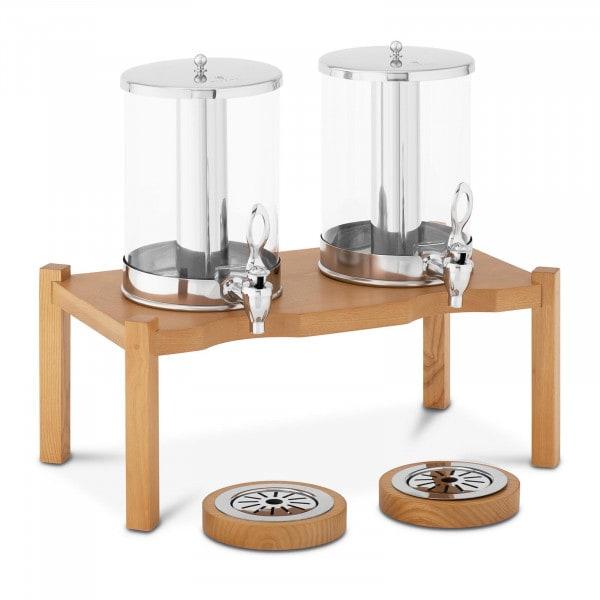 Saftspender - 2 x 7 L - Kühlsystem - Holzgestell