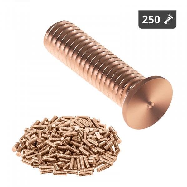 Schweißbolzen - M3 - 12 mm - Stahl - 250 Stück