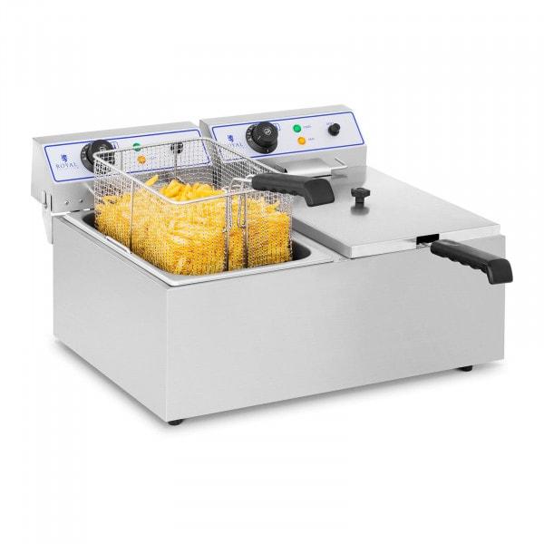 Elektro-Fritteuse - 2 x 17 Liter - geeignet für Fisch