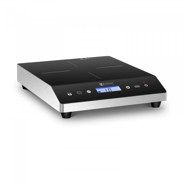 Induktionsplatte - 24 cm - 60 bis 240 °C - Timer - LCD