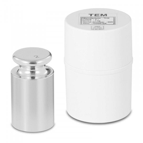 Kalibriergewicht - 2 kg - Edelstahl