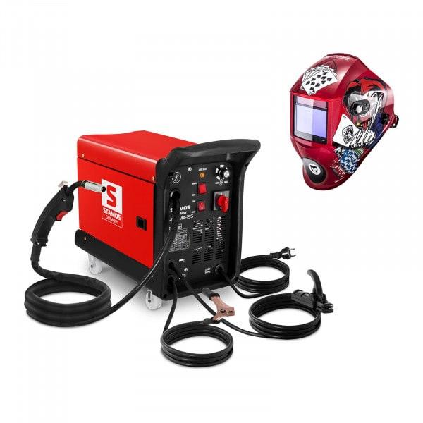 Schweißset Kombi-Schweißgerät - 195 A - 230 V - tragbar + Schweißhelm – Pokerface