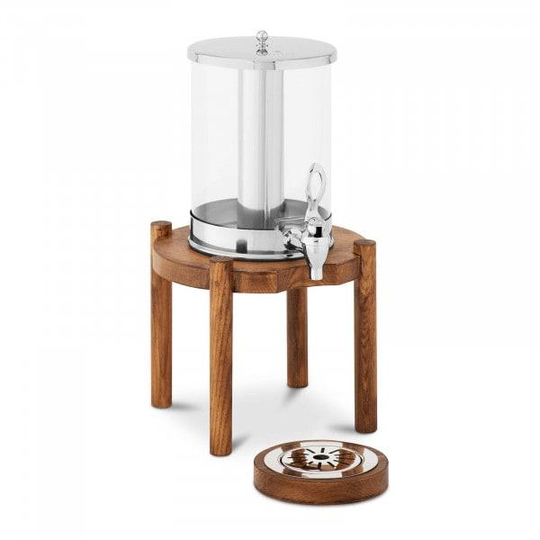Saftspender - 7 L - Kühlsystem - helles Holzgestell