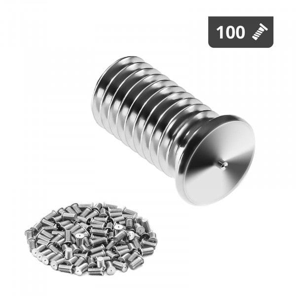 Schweißbolzen - M8 - 16 mm - Edelstahl - 100 Stück