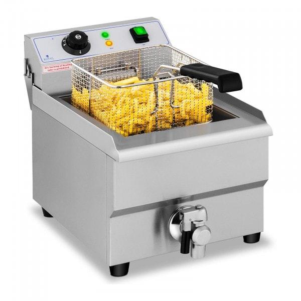 Elektro-Fritteuse - 16 Liter - Ablasshahn - 230 V