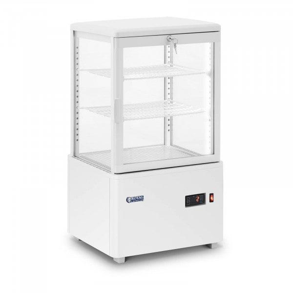 Kühlvitrine - 58 L - 3 Ebenen - weiß - abschließbar