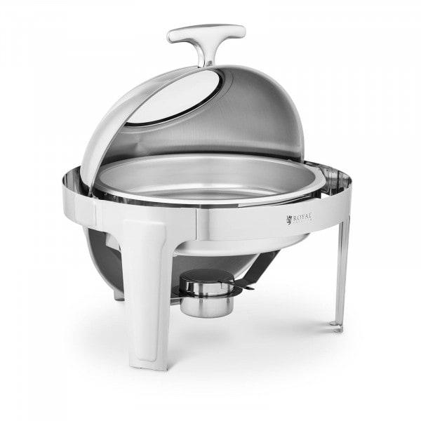 Chafing Dish - rund mit Sichtfenster - Royal Catering - 5,8 L