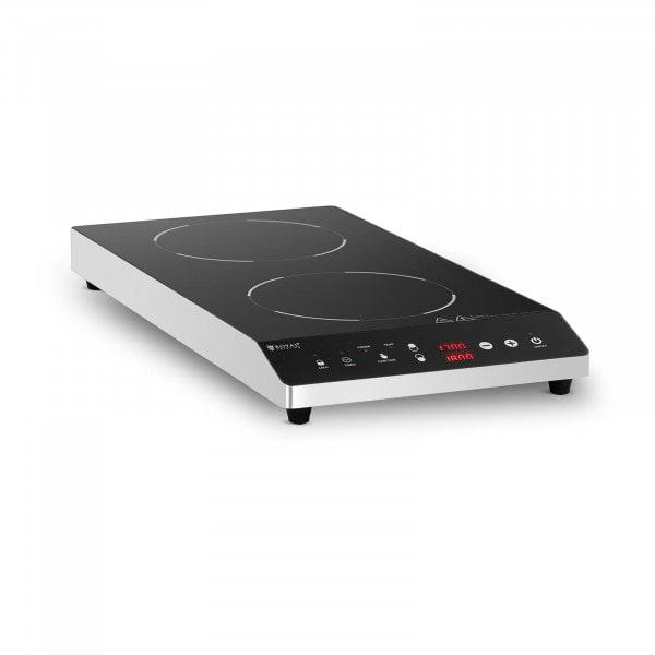Induktionsplatte - 2 x 22 cm - 60 bis 240 °C - Timer