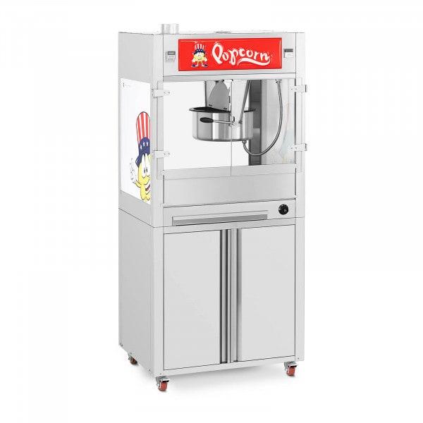 Popcornmaschine - mit Unterschrank auf Rädern - Royal Catering - groß