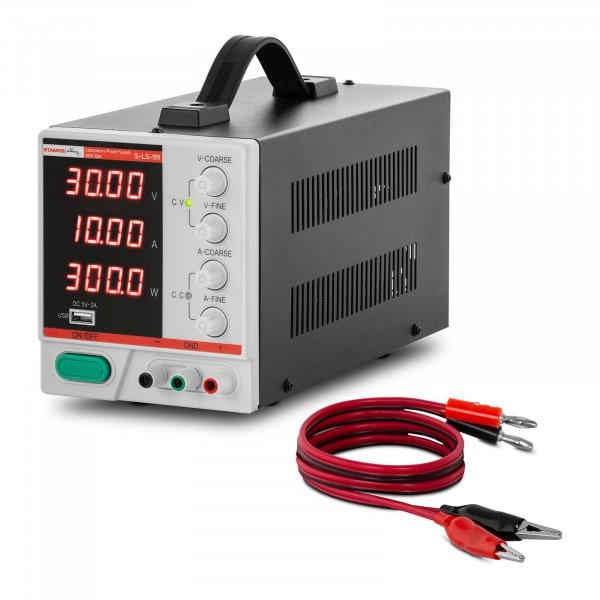 Labornetzgerät - 0 - 30 V - 0 - 10 A DC - 300 W - 4-stellige LED-Anzeige - USB