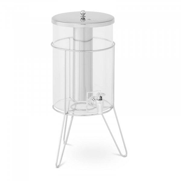 Saftspender - 7 L - Kühlsystem - Edelstahlgestell