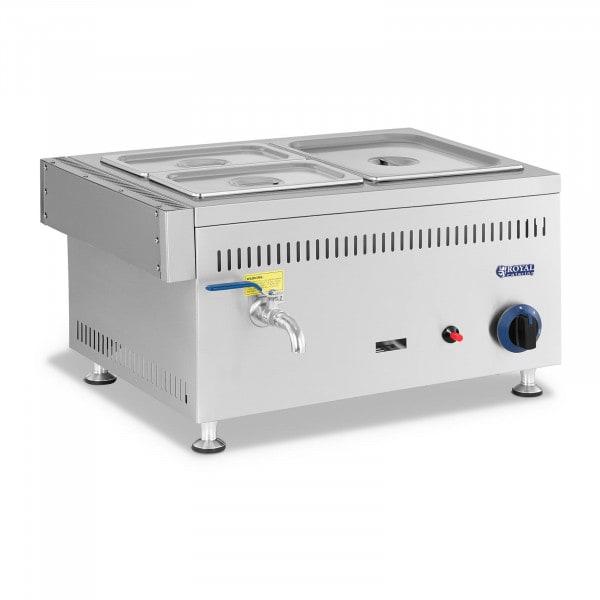 Gas Bain Marie - 3300 W - GN 1 x 1/2 + 2 x 1/4 - 0,03 bar - G31