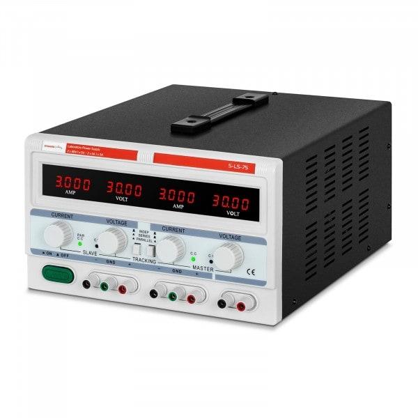 Labornetzgerät - 2 x 0-30 V/ 0-3 A DC - 1 x 5 V / 3 A - 180 W