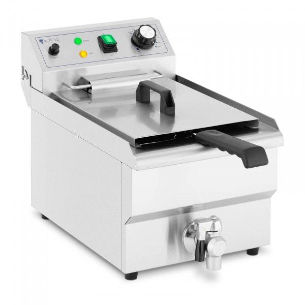 Elektro-Fritteuse - 9 L - 3.000 W - Ablasshahn - Kaltzone