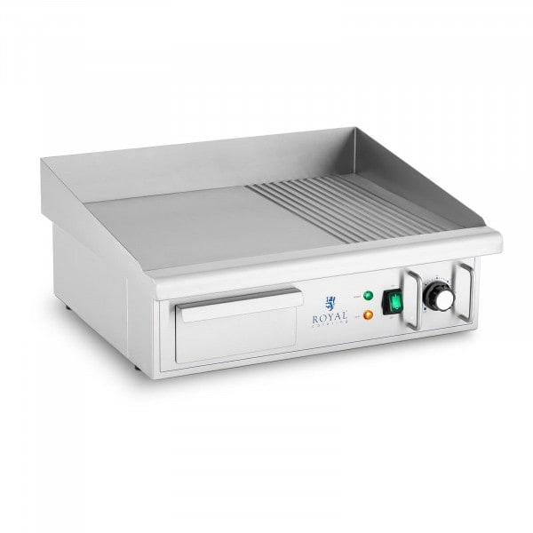 Elektro Grillplatte - 360 x 560 mm - Ribber + Flat - 3.000 W