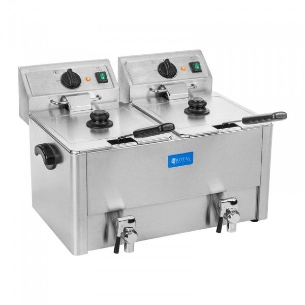 Elektro-Fritteuse - 2 x 13 Liter - EGO Thermostat