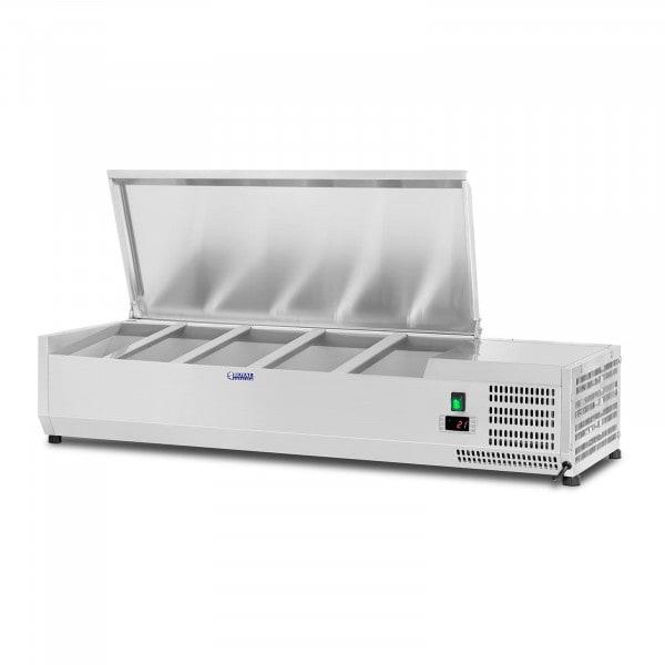 Kühlaufsatzvitrine - 120 x 33 cm - 5 GN 1/4 Behälter