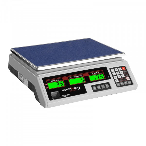 B-WARE Kontrollwaage - 35 kg / 2 g - weiß - LCD